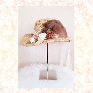 Vintage Feathered Cowgirl Hat